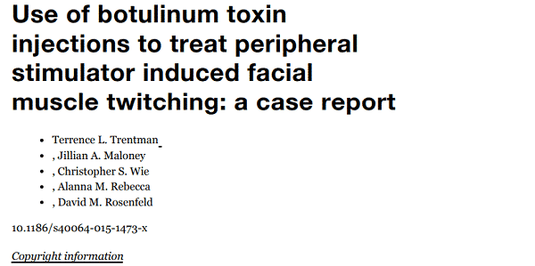 Use of botulinum toxin injections to treat peripheral stimulator